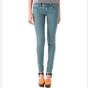 Free people jeans skinny millennium colored teal